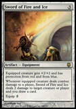 Magic the Gathering Darksteel ITALIAN Single Sword of Fire and Ice - MODERATE PLAY (MP)