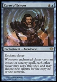 Magic the Gathering Dark Ascension Single Curse of Echoes FOIL - MODERATE PLAY (MP)