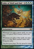 Magic the Gathering Eventide Single Fable of Wolf and Owl - SLIGHT PLAY (SP)