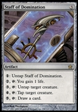Magic the Gathering Fifth Dawn Single Staff of Domination FOIL - SLIGHT PLAY (SP)