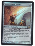 Magic the Gathering Darksteel SIGNED BY ARTIST Single Sword of Fire and Ice FOIL - SLIGHT PLAY (SP)