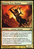 Magic the Gathering Guildpact Single Burning-Tree Shaman - SLIGHT PLAY (SP)