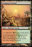 Magic the Gathering Guildpact ITALIAN Single Stomping Ground - SLIGHT PLAY (SP)