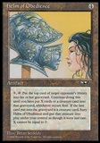Magic the Gathering Alliances Single Helm of Obedience - HEAVY PLAY (HP)