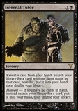 Magic the Gathering Dissension Single Infernal Tutor - MODERATE PLAY (MP)