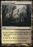 Magic the Gathering Innistrad Single Isolated Chapel FOIL - SLIGHT PLAY (SP)