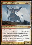 Magic the Gathering Journey into Nyx Single Iroas, God of Victory FOIL - SLIGHT PLAY