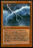 Magic the Gathering Legends ITALIAN Single Chain Lightning - NEAR MINT (NM)