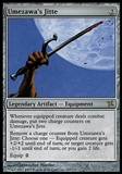Magic the Gathering Betrayers of Kamigawa ITALIAN Single Umezawa's Jitte - SLIGHT PLAY (SP)