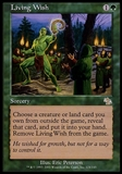 Magic the Gathering Judgment Single Living Wish ITALIAN FOIL - NEAR MINT (NM)