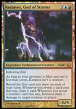Magic the Gathering Journey into Nyx Single Keranos, God of Storms FOIL - SLIGHT PLAY (SP)