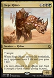 Magic the Gathering Khans of Tarkir Single Siege Rhino - SLIGHT PLAY (SP)