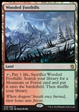 Magic the Gathering Khans of Tarkir Single Wooded Foothills - SLIGHT PLAY (SP)