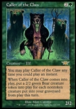 Magic the Gathering Legions Caller of the Claw - SLIGHT PLAY (SP)