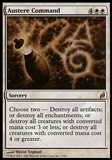 Magic the Gathering Lorwyn Single Austere Command FOIL - SLIGHT PLAY (SP)