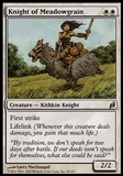 Magic the Gathering Lorwyn Single Knight of Meadowgrain - MODERATE PLAY (MP)