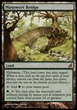 Magic the Gathering Lorwyn Single Mosswort Bridge FOIL - SLIGHT PLAY (SP)