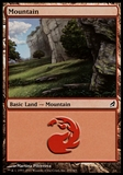 Magic the Gathering Lorwyn Single Basic Mountain (#295)  FOIL - MODERATE PLAY (MP)