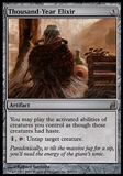 Magic the Gathering Lorwyn Single Thousand-Year Elixir - SLIGHT PLAY (SP)