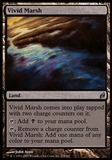 Magic the Gathering Lorwyn Single Vivid Marsh FOIL - SLIGHT PLAY (SP)