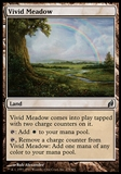 Magic the Gathering Lorwyn Single Vivid Meadow FOIL - SLIGHT PLAY (SP)