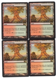 Magic the Gathering Magic 2012 PLAYSET Rootbound Crag X4 - SLIGHT PLAY (SP)