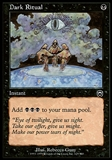 Magic the Gathering Mercadian Masques Single Dark Ritual FOIL - SLIGHT PLAY (SP)