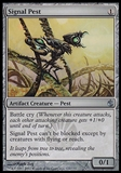 Magic the Gathering Mirrodin Besieged Single Signal Pest FOIL - NEAR MINT (NM)