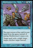 Magic the Gathering Mercadian Masques Single Misdirection FOIL - MODERATE PLAY (MP)