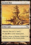 Magic the Gathering Mirrodin Single Ancient Den FOIL - SLIGHT PLAY (SP)