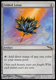 Magic the Gathering Mirrodin Single Gilded Lotus - MODERATE PLAY (MP)