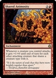 Magic the Gathering Morningtide Single Shared Animosity - SLIGHT PLAY (SP)