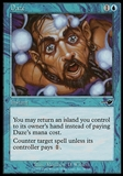 Magic the Gathering Nemesis Single Daze - MODERATE PLAY (MP)