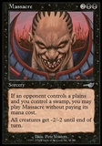 Magic the Gathering Nemesis Single Massacre FOIL - NEAR MINT (NM)
