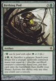 Magic the Gathering New Phyrexia Single Birthing Pod FOIL - MODERATE PLAY (MP)