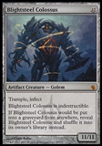 Magic the Gathering Mirrodin Beseiged Single Blightsteel Colossus - MODERATE PLAY (MP)