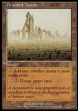 Magic the Gathering Odyssey Single Deserted Temple - SLIGHT PLAY (SP)