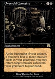 Magic the Gathering Onslaught Single Oversold Cemetery - MODERATE PLAY (MP)