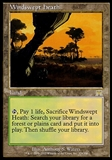 Magic the Gathering Onslaught Single Windswept Heath FOIL - SLIGHT PLAY (SP)