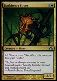Magic the Gathering Planar Chaos Single Darkheart Sliver FOIL - NEAR MINT (NM)