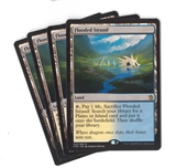 Magic the Gathering Khans of Tarkir PLAYSET Flooded Strand X4 - NEAR MINT (NM)