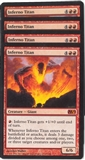 Magic the Gathering Magic 2012 PLAYSET Inferno Titan X4 - NEAR MINT (NM)