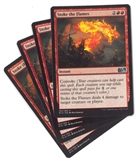 Magic the Gathering Magic 2015 PLAYSET Stoke the Flames X4 - SLIGHT PLAY (SP)