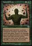 Magic the Gathering Portal Single Natural Order - HEAVY PLAY (HP)