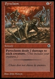Magic the Gathering Portal Single Pyroclasm - MODERATE PLAY (MP)