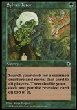 Magic the Gathering Portal Single Sylvan Tutor - MODERATE PLAY (MP)