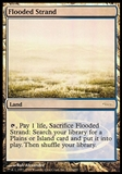 Magic the Gathering Promotional Single Flooded Strand FOIL (JUDGE) - Damaged