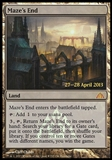 Magic the Gathering Promotional Single Maze's End FOIL (Prerelease) - SLIGHT PLAY (SP)