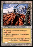 Magic the Gathering Promo Single Wasteland FOIL (WPN) - MODERATE PLAY (MP)
