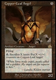 Magic the Gathering Prophecy Single Copper-Leaf Angel FOIL - MODERATE PLAY (MP)